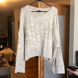 Express Cropped Cable Sweater